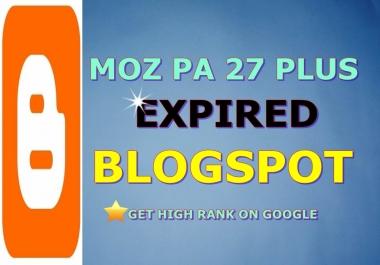 Provide 25 Expired Blogspot PA 28