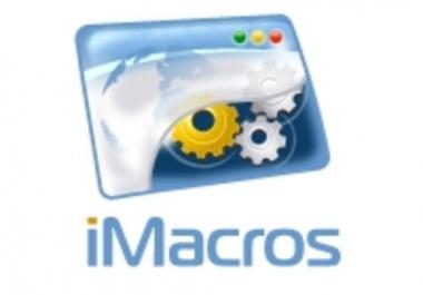 do Any Automatic Web Task Using Imacros