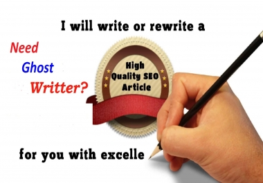 SEO Article Freelance Writer  - I Will Be Your SEO Article Ghost Writer For Blog Or Website Post - Hurry Order Now Limited Time OFFER ! ! !