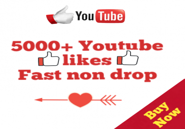 5000+Youtube Likes Complete Very Fast 12-72 hours