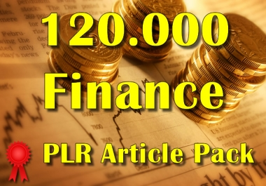 120000 FINANCE Plr Article Collection Pack