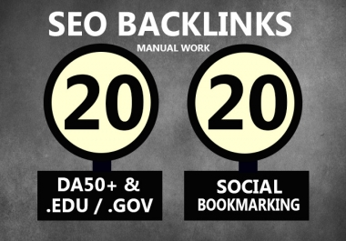 20 EDU GOV & 20 Social Bookmarking