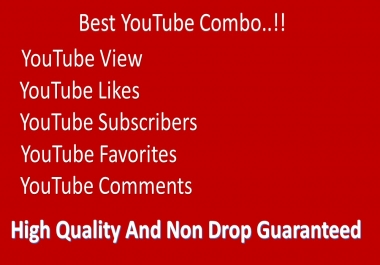Super Fast Youtube 3000-4500 views 50 likes 20 subscribers 20 favourites and 5 comments2