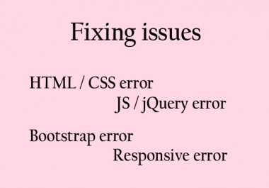 fix issue html, css, bootstrap and responsive website