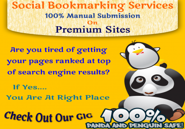 100 Social Bookmarking Links from Premium Sites
