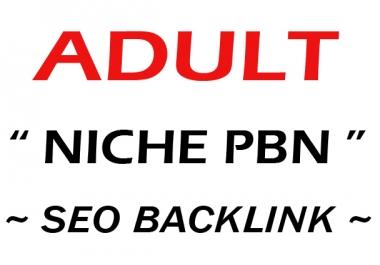High Quality DA-PA Adult Niche PBN BLOGs SEO Backlink