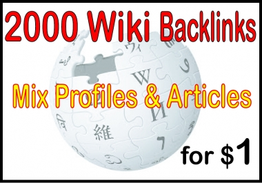 Do 2000 High PR Wiki Backlinks