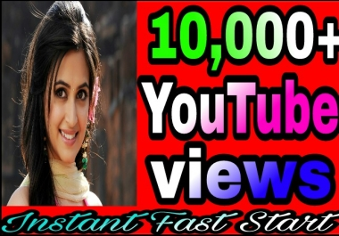 Safe,10,000+H.Q YouTube Views Refill Guranteed Just