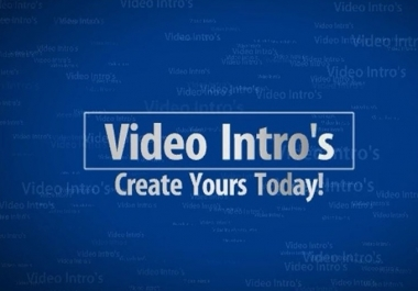 create amazing video intros