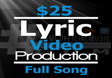 Create A Dope Lyric Typography Music Video For Your Full Song