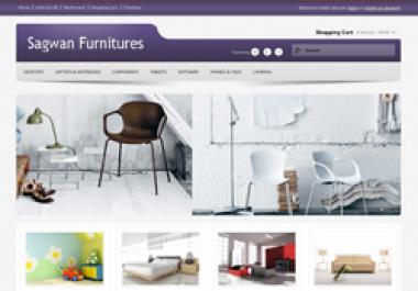 Design e-shop in opencart platform