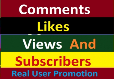 Youtube Package All in One Via Real User Super Fast Delivery