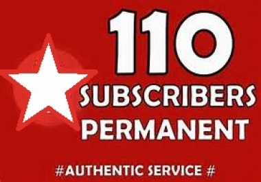 Brand Safe Service Never Drop 110 HQ  Youtube Subscribers