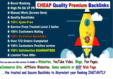 INSTANT Rank BOOSTER SEO BULLET Backlink - Give You Guaranteed ASSORTED Premium High DA TF CF & 10 High PR4 - PR9 Backlinks To SKYROCKET Your Ranking To Google Page 1 - LIMITED Time Offer Hurry Now!!!