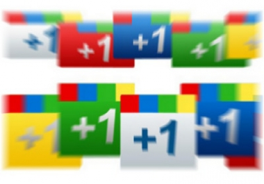 30+ Google Plus+1 votes on your website or webpage bu... for $1
