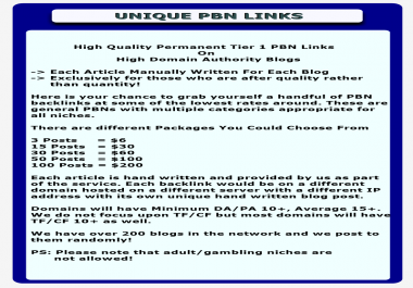 30 x PBN Links Private Blog Network Posts
