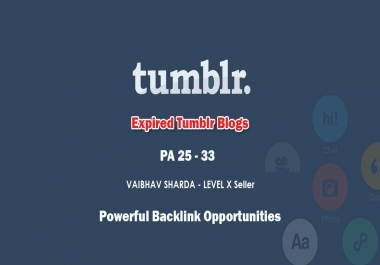 Get you 1 Registered High PA Tumblr with Your Keyword in domain