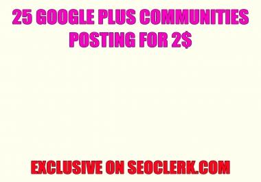 25 Google plus communities post