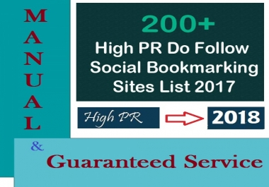 Get 200+ SOCIAL Bookmarks SEO Service For Increasing Your Website Rank and Get Traffic From Social Sites