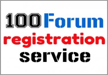 100 forum registration service