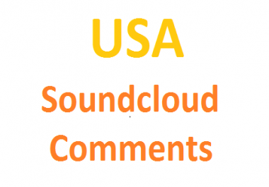 Get you 50 soundcloud comments from usa country