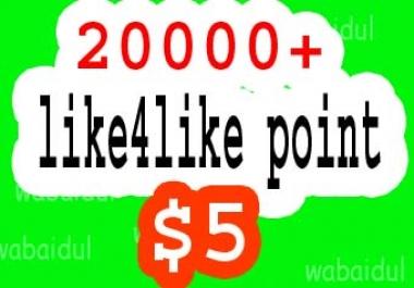 Quick 20k like4like points