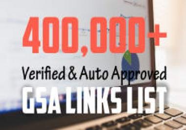 l Will 300k Auto Approve And Verified GSA Fresh List November 2017