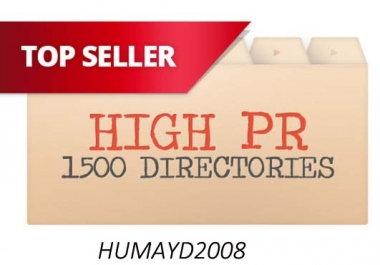 do 1500 High PR web directories submissions to your site