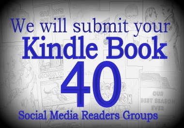 Submit you kindle e book to 40 social reading communities