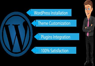 WordPress Installation and Theme Customization Service
