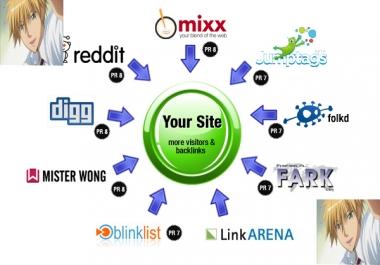 Manually Do TOP 10+ PR9 to PR6 Safe High Alexa Rank Social Bookmark Backlinks