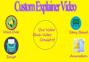 Create A 2D Animation Or Cartoon Explainer Video