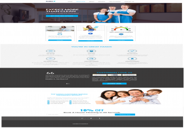 professional  Website Design Clean Simple Modern