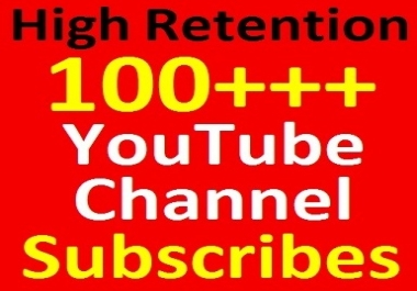 100+ YouTube Channel Subscribers Non-dropped and Safety Guaranteed