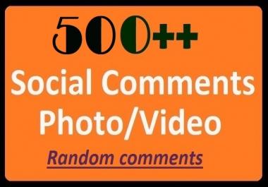 Instant Start, 500+ HQ Comments on Social Post Videos Positive, Randomly