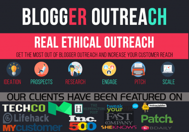 Pure Blogger Outreach Service For Niche GUEST POSTING