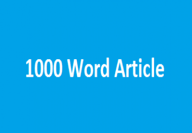 Unique SEO Optimized 1000 Word Article in UK/US English