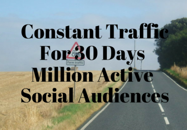 Drive Genuine Web Traffic Social Media Visitors For 30 days