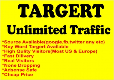 Bring Keyword Targeted Website Traffic Visitors for one month