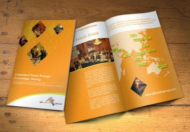 Design professional and eye catching print ready bio-fold brochure