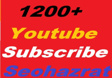 Safe 500+ YouTube Subscribers non drop or 1000+ YouTube  Likes Give You