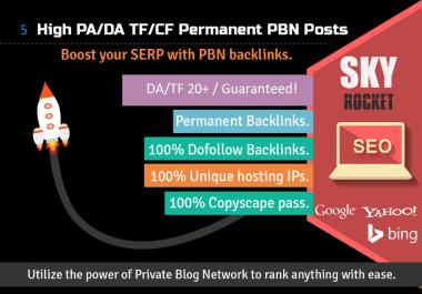 [Ranking Service] 10 Permanent PBN backlinks [DA 20+ TF 20+]