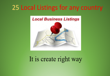 25 Local Listings of Any Country