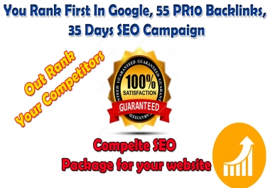 50 PR10 Backlinks, 25,000 GSA Campaign SEO for 35 Days , Assist You Rank 1st In Google