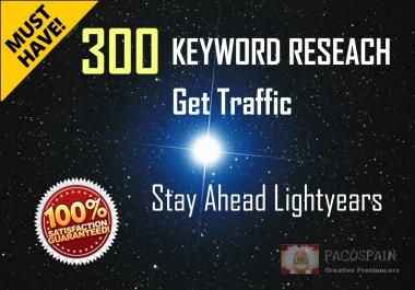 Keywords Research, 300 key phrases