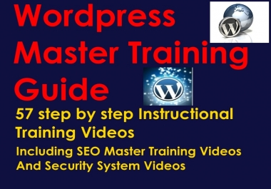 WORDPRESS MASTER TRAINING VIDEO GUIDE - 57 Step By Step Instructional Videos