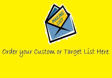 Custom email list building