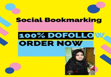 Social Bookmarking 100% Do follow,superb,active Backlinks