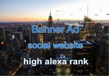Banner on EzySpot social website for 30 days