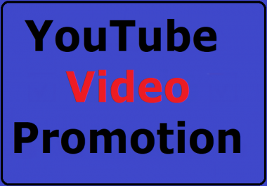 Youtube video organic promotion High Quality and Safe